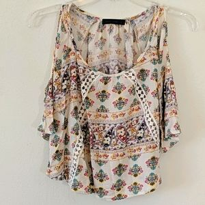 Gypsy Rose Boho Cold Shoulder Shirt